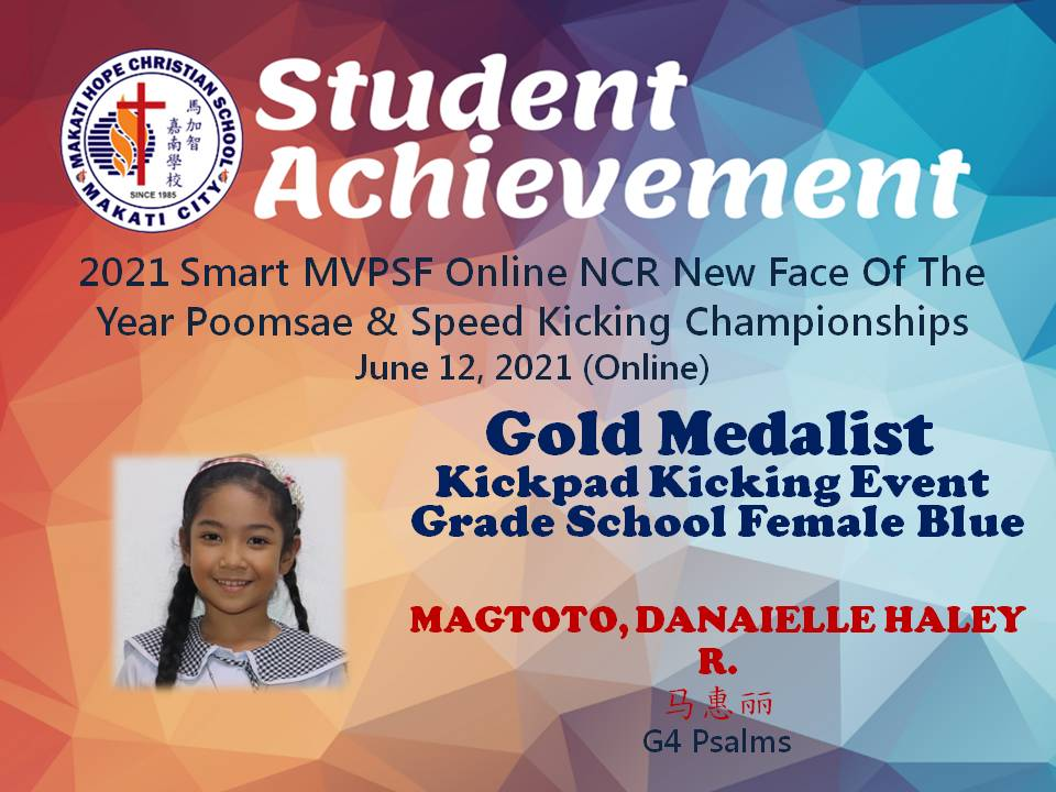 2021 Smart MVPSF Online NCR New Face Of The Year Poomsae & Speed Kicking Championships