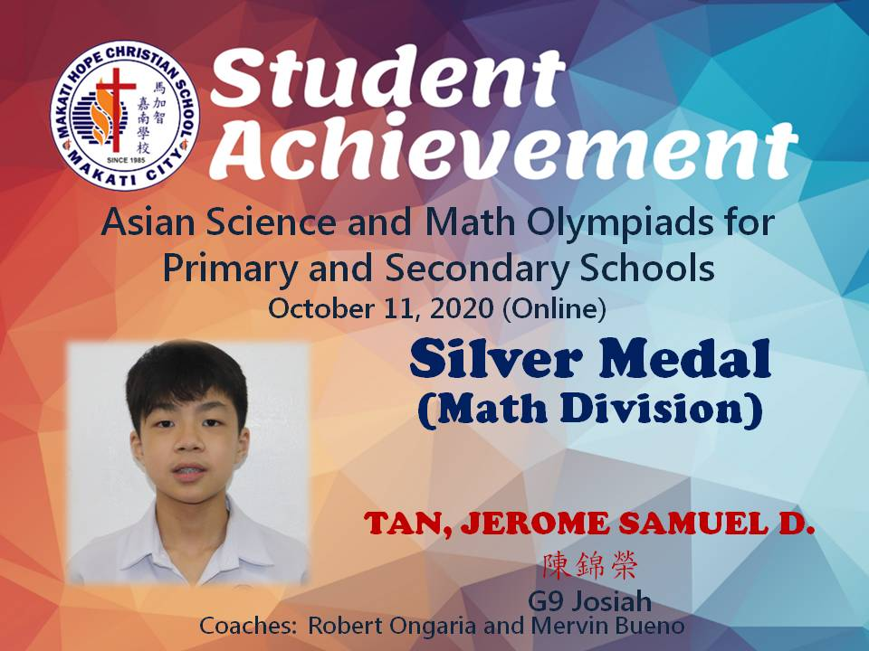 Asian Science and Math Olympiads for Primary and Secondary Schools